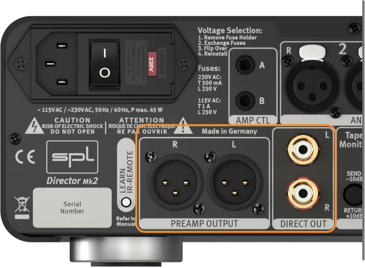 SPL Director Mk2, Preamp & Direct Out