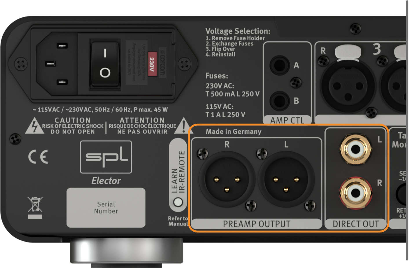 SPL Elector, Preamp & Direct Out