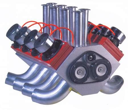 Strassacker, Komponenten: Lautsprecher, Frequenzweichen, Bauelemente